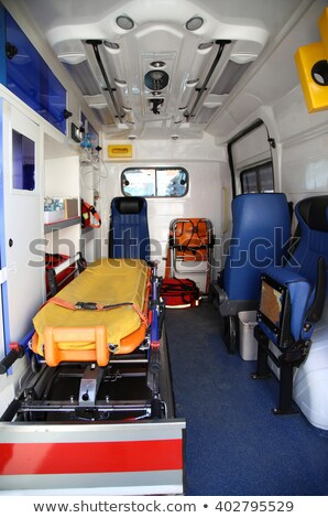 Details of the inside part of the medical equipment in vans ambu Stock photo © vladacanon
