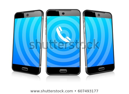 Phoning Ringing Icon Phone Cell Smart Mobile 3D and 2D Stock photo © fenton