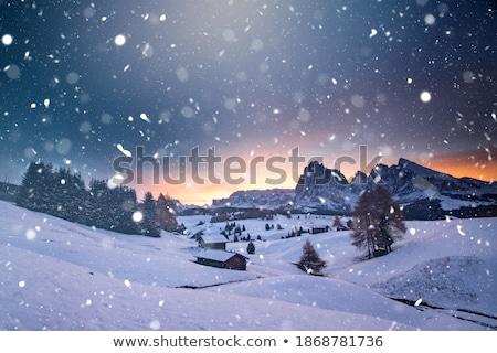 mountains Langkofel in Dolomites Stock photo © LianeM