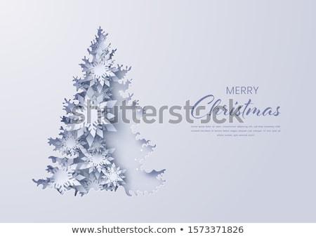 синий Рождества бумаги повторяющихся шаблон Сток-фото © derocz
