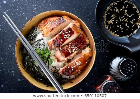терияки куриные обеда китайский Азии еды Сток-фото © M-studio