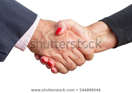 Close up view of an elderly couple shaking hands Stock photo © ozgur
