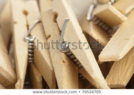 Red clothes pin. Opened standing Stock photo © djmilic