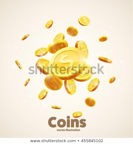 Cassino moeda projeto 10 dinheiro verde Foto stock © sdCrea
