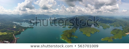 Aerial panorama view of Cheow Lan Lake Stock photo © Mikko