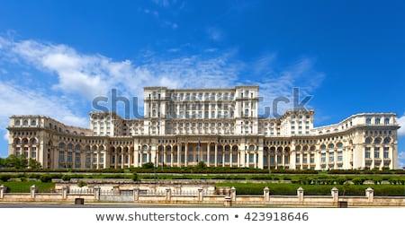 парламент здании Бухарест Румыния фонтан небе Сток-фото © joyr