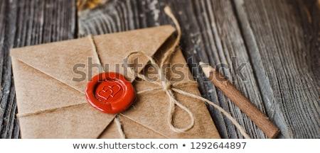 Envelope Sealed Red Paper Heart Stock photo © Genestro