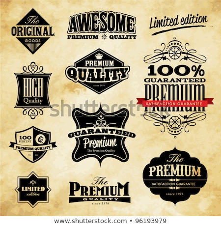 limited edition labels set vector design Stock photo © SArts