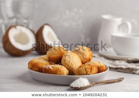 Cup of Tea with Coconut Cookies Stock photo © dariazu