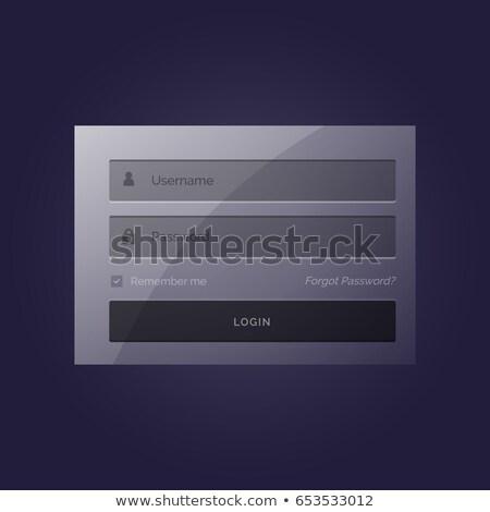 Elegáns bejelentkezés űrlap modern sablon terv Stock fotó © SArts
