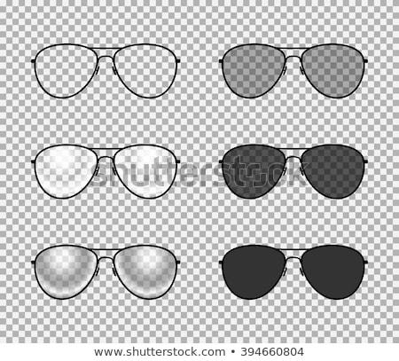 Black Aviator Sunglasses with Reflection on Black Background Stock photo © Akhilesh