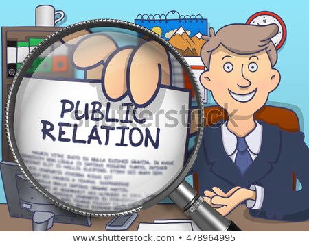 Public Relation through Lens. Doodle Concept. Stock photo © tashatuvango