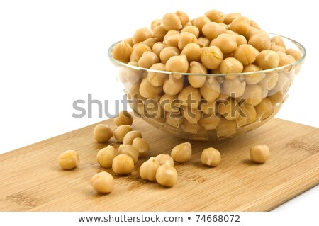 Chick peas in glass dish Stock photo © fotogal