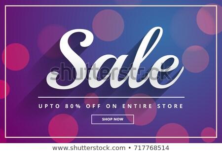 Bokeh verkoop bon sjabloon ontwerp vector Stockfoto © SArts