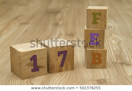 Stock photo: Cubes 17th February