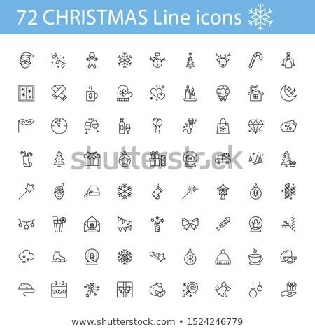 ingesteld · christmas · bomen · eenvoudige · ontwerp - stockfoto © beaubelle