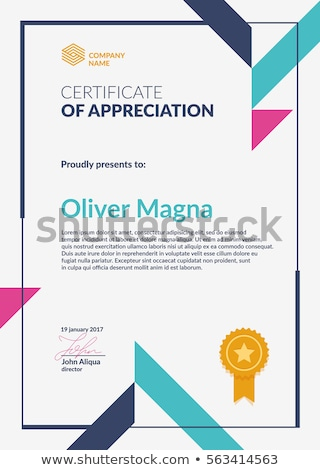 modern geometric certificate of appreciation vector template des Stock photo © SArts