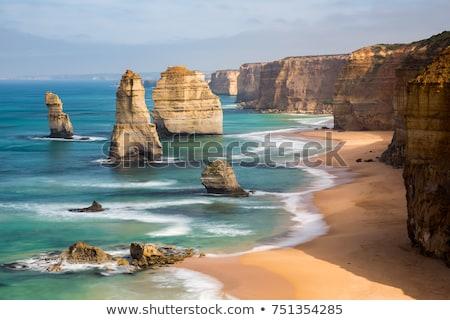 doze · Austrália · pôr · do · sol · praia · água · mar - foto stock © backyardproductions