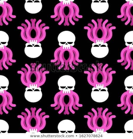 Octopus schedel hoofd skelet vector achtergrond Stockfoto © popaukropa