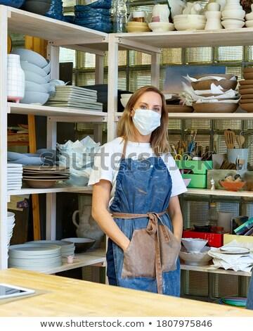женщины Постоянный Керамика семинар портрет Сток-фото © wavebreak_media