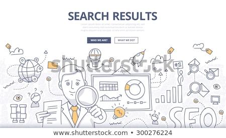 data analysis concept with doodle design icons stock photo © tashatuvango