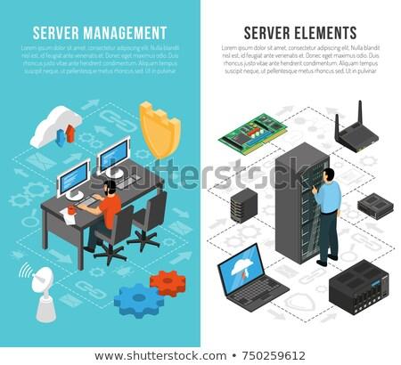 Base de données serveur gestion affaires corne Photo stock © tashatuvango