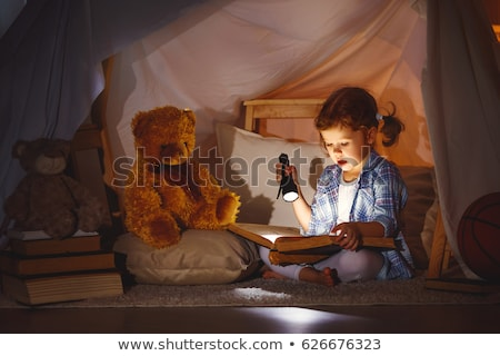 Girl playing under tent Stock photo © IS2