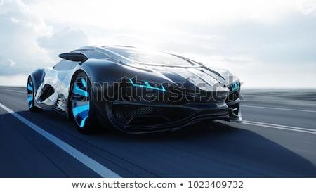 Elektromos sportautó természet autó út kukorica Stock fotó © IS2