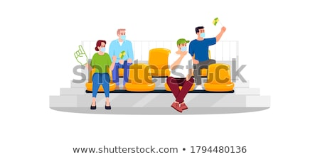 Sport fans - cartoon people character isolated illustration Stock photo © Decorwithme