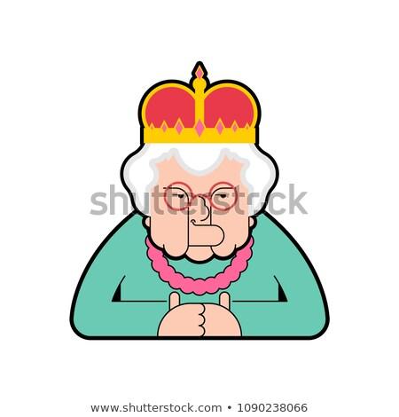 Koningin geïsoleerd baas oude dame kroon vrouw Stockfoto © MaryValery