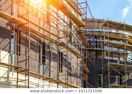 Scaffolding on building Stock photo © simply