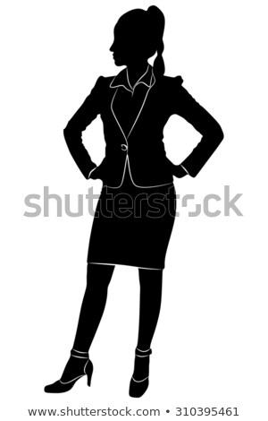 Elegante vrouw handen heupen diva stijl Stockfoto © Giulio_Fornasar