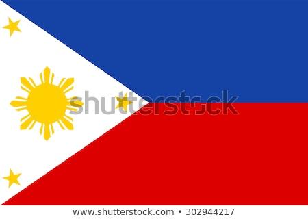 Filipiny banderą biały projektu świat niebieski Zdjęcia stock © butenkow