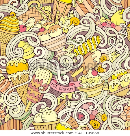 Eskimo pink on stick. Ice cream vector illustration Stock photo © MaryValery