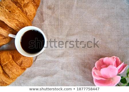 Taze kruvasan peçete üzerinde görmek üç Stok fotoğraf © dash