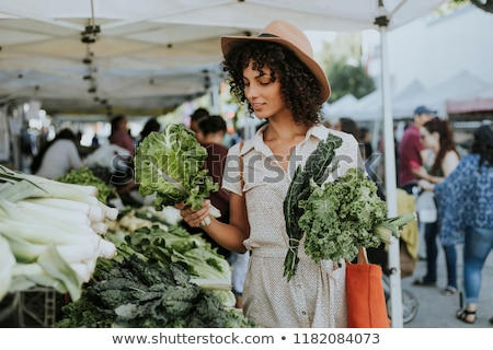 Kale on market Stock photo © boggy