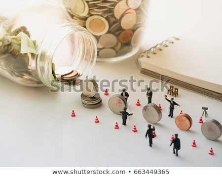 stacks of coins business accounting with saving money  concept c Stock photo © snowing