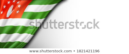 abkhazian flag isolated on white stock photo © daboost