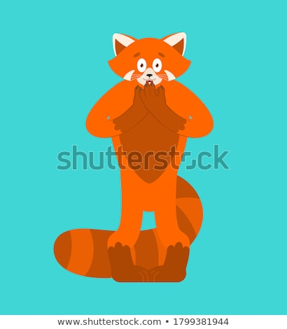Cartoon Red Panda Panic Stock photo © cthoman
