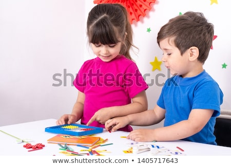 math · meisje · liefde · gelukkig · ogen · achtergrond - stockfoto © bluering