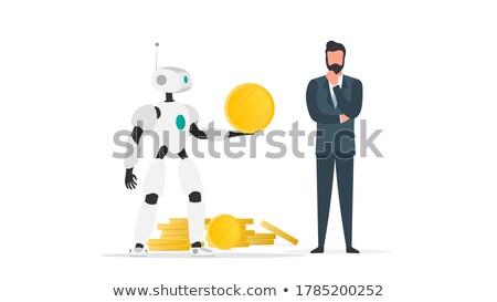 gold robot idea stock photo © cthoman