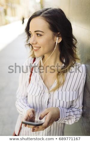 деловая женщина телефон портрет волос Сток-фото © Traimak