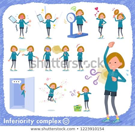Short hair women Sportswear_complex Stock photo © toyotoyo