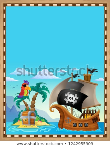 Pirate topic parchment 5 Stock photo © clairev