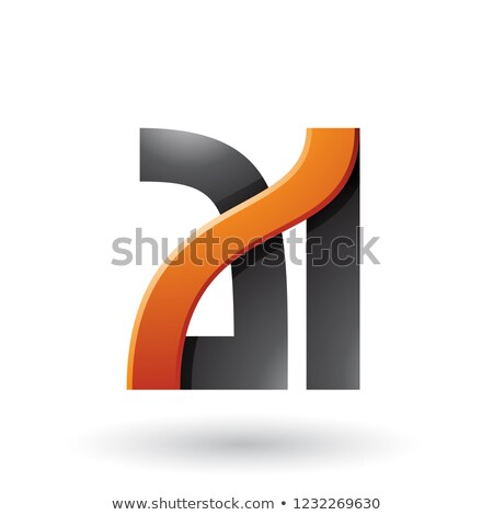 orange and black bold dual letters a and i vector illustration stock photo © cidepix
