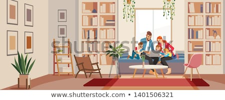 Happy Family Father and Mother Vector Illustration Stock photo © robuart