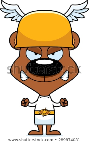 cartoon angry hermes bear stock photo © cthoman