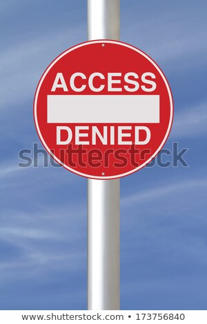 Access Denied Road Sign Stock photo © make
