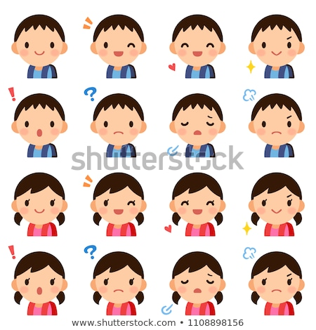 Asian Boy Avatar Set Kid Vector. Primary School. Face Emotions. Facial, People. Cute, Comic. Banner, Stock photo © pikepicture