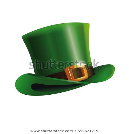 manó · shamrock · kalap · zöld · arany · sör - stock fotó © grafvision